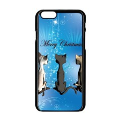 Merry Chrsitmas Apple Iphone 6/6s Black Enamel Case by FantasyWorld7