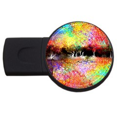 Colorful Tree Landscape Usb Flash Drive Round (2 Gb)  by theunrulyartist