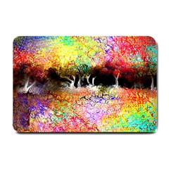 Colorful Tree Landscape Small Doormat  by theunrulyartist
