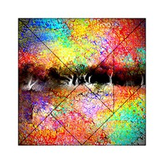 Colorful Tree Landscape Acrylic Tangram Puzzle (6  X 6 ) by theunrulyartist