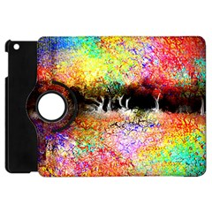 Colorful Tree Landscape Apple Ipad Mini Flip 360 Case by theunrulyartist