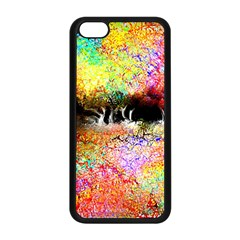 Colorful Tree Landscape Apple Iphone 5c Seamless Case (black) by theunrulyartist