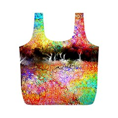 Colorful Tree Landscape Full Print Recycle Bags (M)  by theunrulyartist