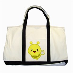 Kawaii Bee Two Tone Tote Bag