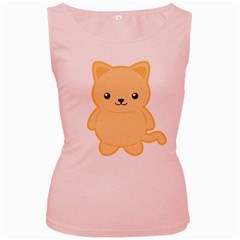 Kawaii Cat Women s Pink Tank Tops by KawaiiKawaii