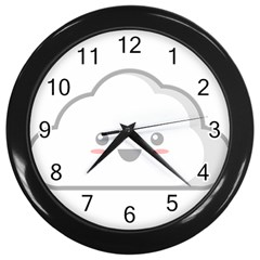 Kawaii Cloud Wall Clocks (black)