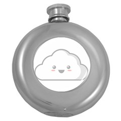 Kawaii Cloud Round Hip Flask (5 Oz) by KawaiiKawaii