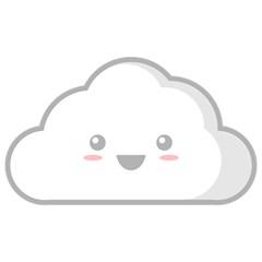 Kawaii Cloud Birthday Cake 3D Greeting Card (7x5)  by KawaiiKawaii