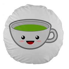 Kawaii Cup Large 18  Premium Flano Round Cushions by KawaiiKawaii