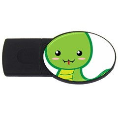 Kawaii Snake Usb Flash Drive Oval (2 Gb)  by KawaiiKawaii