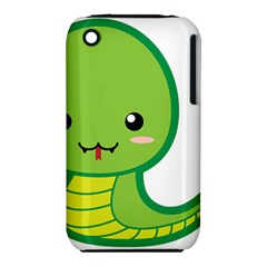 Kawaii Snake Apple Iphone 3g/3gs Hardshell Case (pc+silicone) by KawaiiKawaii