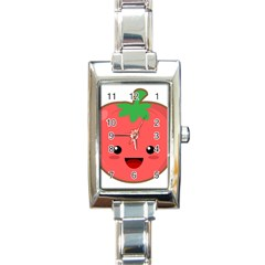 Kawaii Tomato Rectangle Italian Charm Watches by KawaiiKawaii