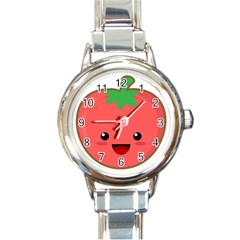 Kawaii Tomato Round Italian Charm Watches by KawaiiKawaii
