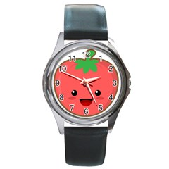 Kawaii Tomato Round Metal Watches by KawaiiKawaii