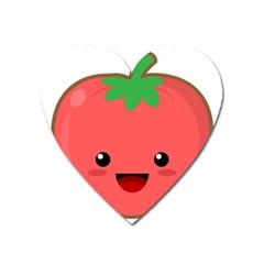 Kawaii Tomato Heart Magnet by KawaiiKawaii
