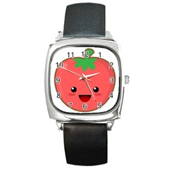Kawaii Tomato Square Metal Watches by KawaiiKawaii