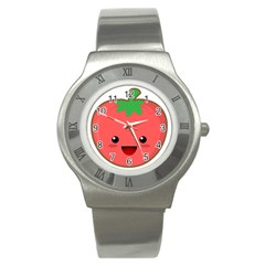 Kawaii Tomato Stainless Steel Watches by KawaiiKawaii