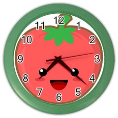 Kawaii Tomato Color Wall Clocks by KawaiiKawaii