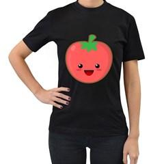 Kawaii Tomato Women s T Shirt (black) by KawaiiKawaii