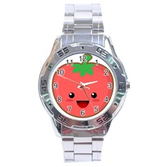 Kawaii Tomato Stainless Steel Men s Watch by KawaiiKawaii