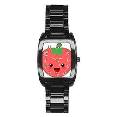 Kawaii Tomato Stainless Steel Barrel Watch by KawaiiKawaii