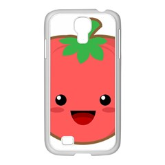 Kawaii Tomato Samsung Galaxy S4 I9500/ I9505 Case (white) by KawaiiKawaii