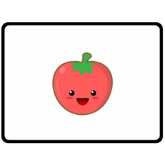 Kawaii Tomato Double Sided Fleece Blanket (large)  by KawaiiKawaii