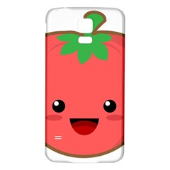 Kawaii Tomato Samsung Galaxy S5 Back Case (white) by KawaiiKawaii