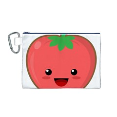 Kawaii Tomato Canvas Cosmetic Bag (m) by KawaiiKawaii