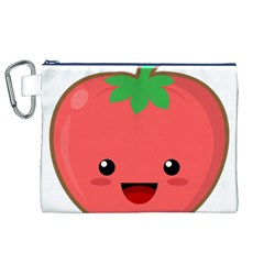 Kawaii Tomato Canvas Cosmetic Bag (xl)  by KawaiiKawaii
