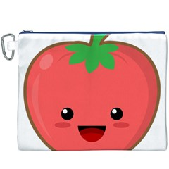 Kawaii Tomato Canvas Cosmetic Bag (xxxl)  by KawaiiKawaii