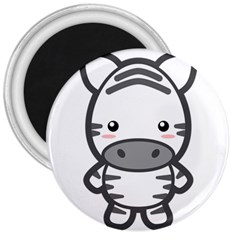 Kawaii Zebra 3  Magnets by KawaiiKawaii