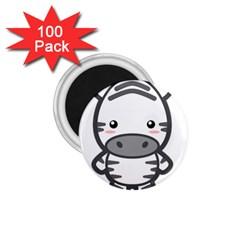 Kawaii Zebra 1.75  Magnets (100 pack)  by KawaiiKawaii