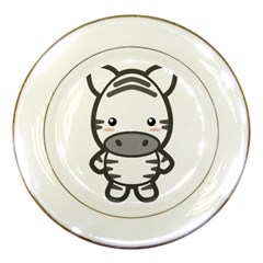 Kawaii Zebra Porcelain Plates by KawaiiKawaii