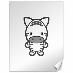 Kawaii Zebra Canvas 18  X 24   by KawaiiKawaii