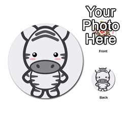 Kawaii Zebra Multi Purpose Cards (round)  by KawaiiKawaii