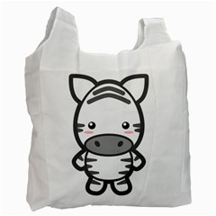Kawaii Zebra Recycle Bag (two Side)  by KawaiiKawaii