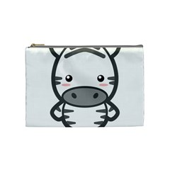 Kawaii Zebra Cosmetic Bag (medium)  by KawaiiKawaii