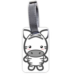 Kawaii Zebra Luggage Tags (one Side)  by KawaiiKawaii