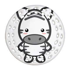Kawaii Zebra Ornament (round Filigree)  by KawaiiKawaii