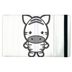 Kawaii Zebra Apple Ipad 2 Flip Case by KawaiiKawaii