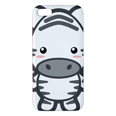 Kawaii Zebra Apple Iphone 5 Premium Hardshell Case by KawaiiKawaii