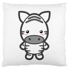 Kawaii Zebra Standard Flano Cushion Cases (one Side)  by KawaiiKawaii