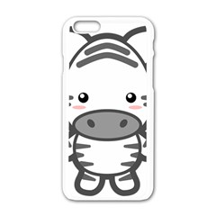 Kawaii Zebra Apple Iphone 6/6s White Enamel Case by KawaiiKawaii