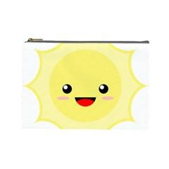 Kawaii Sun Cosmetic Bag (large)  by KawaiiKawaii