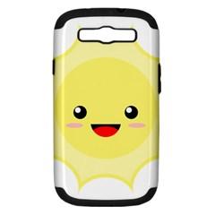 Kawaii Sun Samsung Galaxy S Iii Hardshell Case (pc+silicone) by KawaiiKawaii