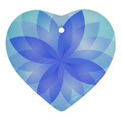 Abstract Lotus Flower 1 Ornament (heart)  by MedusArt