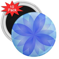 Abstract Lotus Flower 1 3  Magnets (10 Pack)  by MedusArt
