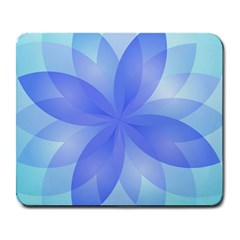 Abstract Lotus Flower 1 Large Mousepads by MedusArt