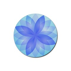 Abstract Lotus Flower 1 Rubber Coaster (round)  by MedusArt